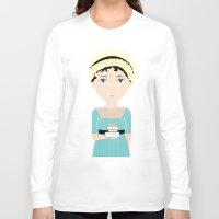 jane austen Long Sleeve T-shirts featuring Jane Austen by Creo tu mundo