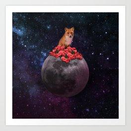 Lonely Fox Art Print