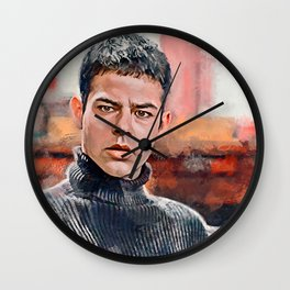 Painting Illustration Of Lucas From The Cult Classic Movie Empire Records Wall Clock