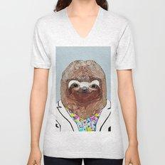 1980's Sloth Unisex V-Neck