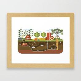 Big Garden, Little People Framed Art Print