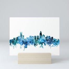 Charlotte North Carolina Skyline Mini Art Print