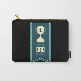 Number 1 Best Dad Ever Trophy Father's Carry-All Pouch