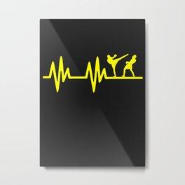 KICKBOXING HEARTBEAT Metal Print
