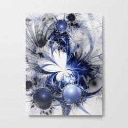 Blizzard - Abstract Fractal Artwork Metal Print