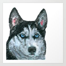 Husky printed from an original painting by Jiri Bures Art Print