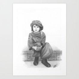 Alone in a cruel world Art Print