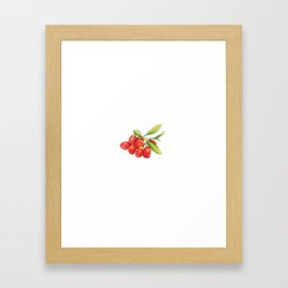 Group o' Goji berries Framed Art Print