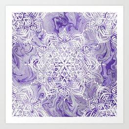 Marble Mandala Twist XI Art Print