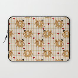 Gingerbread Family Country Plaid Christmas Laptop Sleeve