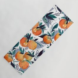 spring oranges Yoga Mat