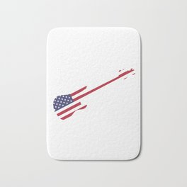 4th Of July Guitar Band USA Bath Mat