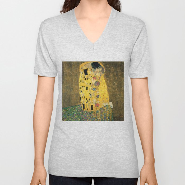 The Kiss - Gustav Klimt Unisex V-Neck