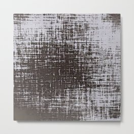 Woven Grey Abstract Metal Print