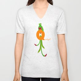 q for quetzal Unisex V-Neck