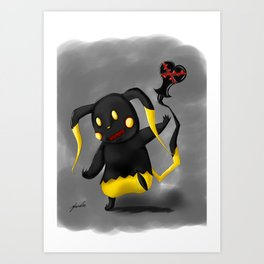 Heartless Pika Art Print
