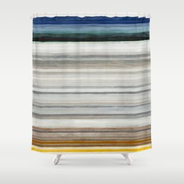 Colorbands Yellowstone Shower Curtain