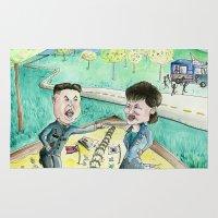 korean Area & Throw Rugs featuring Korean Sandbox  by Kyle McDonald