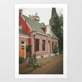 Amsterdam red house Art Print