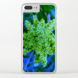 Lime Green Sumac Bloom Clear iPhone Case