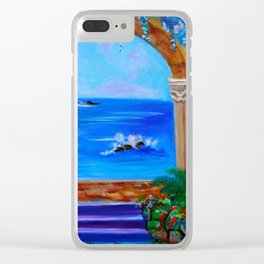 Garden Secrets by the Sea Clear iPhone Case