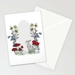 Rabbits Tea Party Stationery Cards