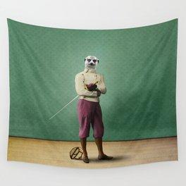 Milton Meerkat: Fencing Master Wall Tapestry
