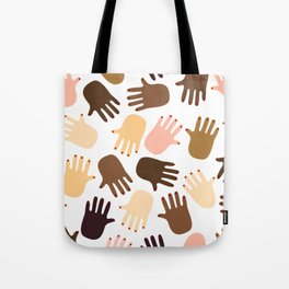 Don't get all handsy Tote Bag