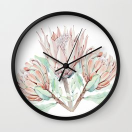 Protea #society6 #buyart Wall Clock