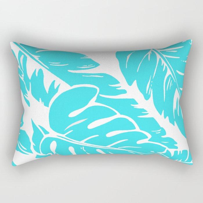 PALM LEAF BLUE Rectangular Pillow