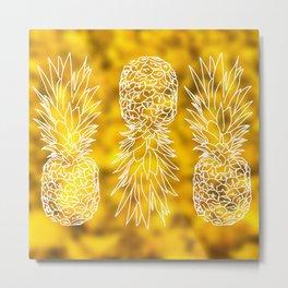 pineapple player Metal Print
