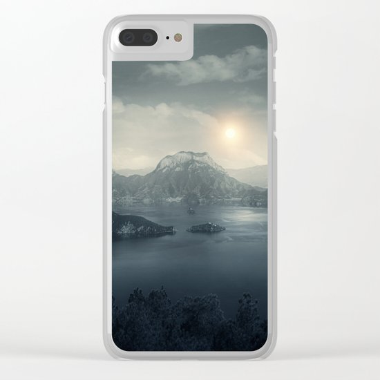 Silent sunset Clear iPhone Case