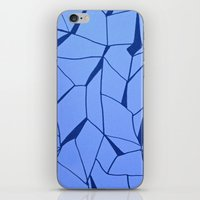 blueprint iPhone & iPod Skins featuring BluePrint by Elina Larsson