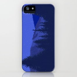 Conifers and Night Sky iPhone Case