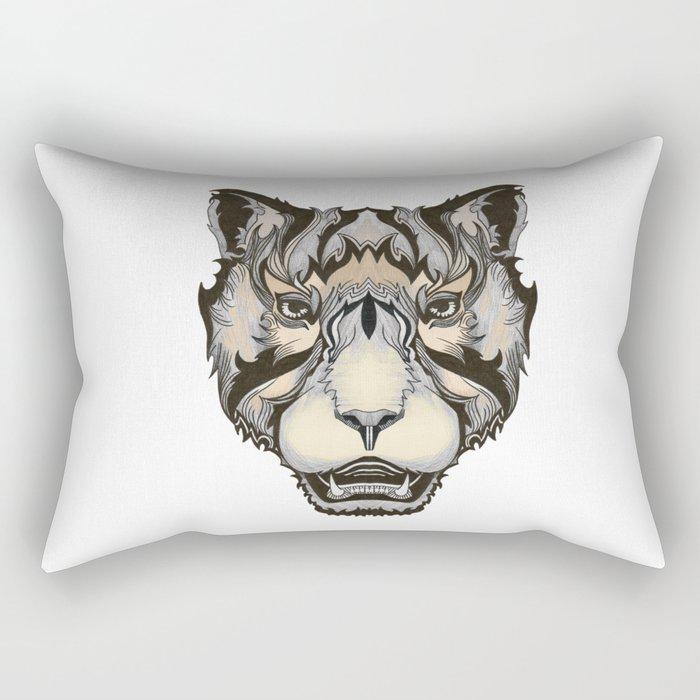 Big kitten Rectangular Pillow
