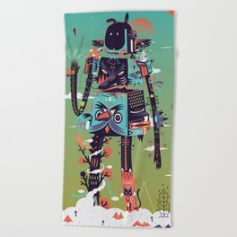 Totem Beach Towel