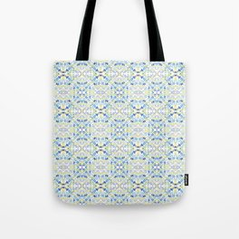 Blue dashes and diamonds Tote Bag