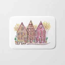 Coloured houses II Bath Mat