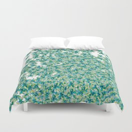 Blue and Yellow Forget Me Knots Duvet Cover