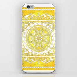 Golden Henna Mandala iPhone Skin