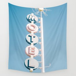 Vintage Motel Sign Wall Tapestry