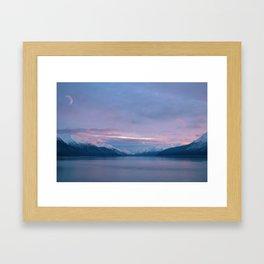 Alaska Moon Framed Art Print