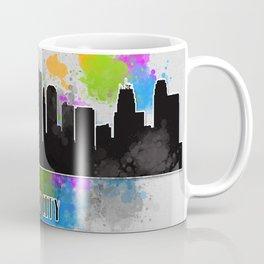 Kansas city skyline silhouette Coffee Mug