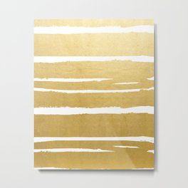 Gold Vibes Only #society6 #decor #buyart Metal Print