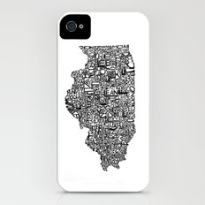 Typographic Illinois iPhone (4, 4s) Slim Case