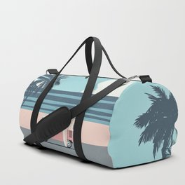 Surfer Graphic Beach Palm-Tree Camper-Van Art Duffle Bag