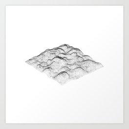 Dot Landscape Art Print