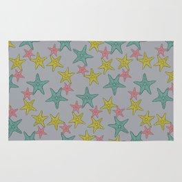 Starfish gray background Rug
