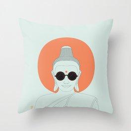 Buddha : Imagine Silence! Throw Pillow