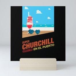 Churchill en el Puerto Mini Art Print